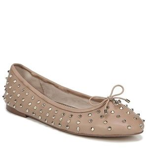 NEW Sam Edelman Fanley Leather Studded Ballet Flat